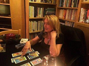 Janis at Tarot table