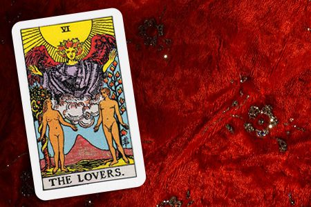 The Lovers card
