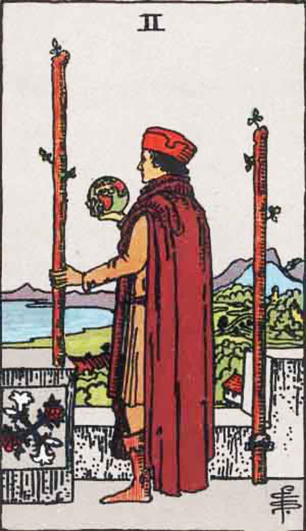 The Two of Wands tarot card