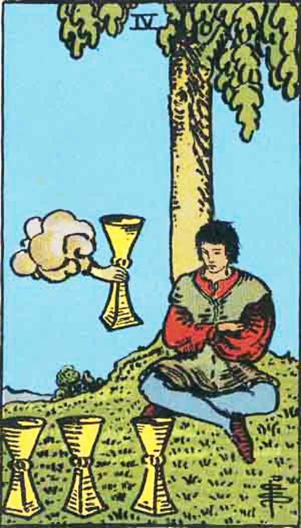 The Four of Cups tarot card