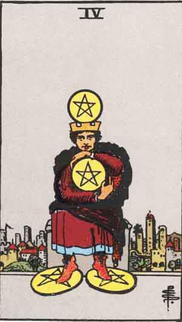 The Four of Pentacles tarot card