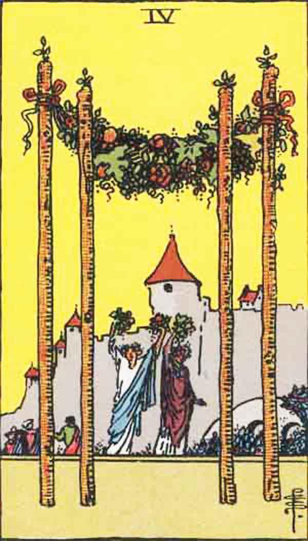 The Four of Wands tarot card
