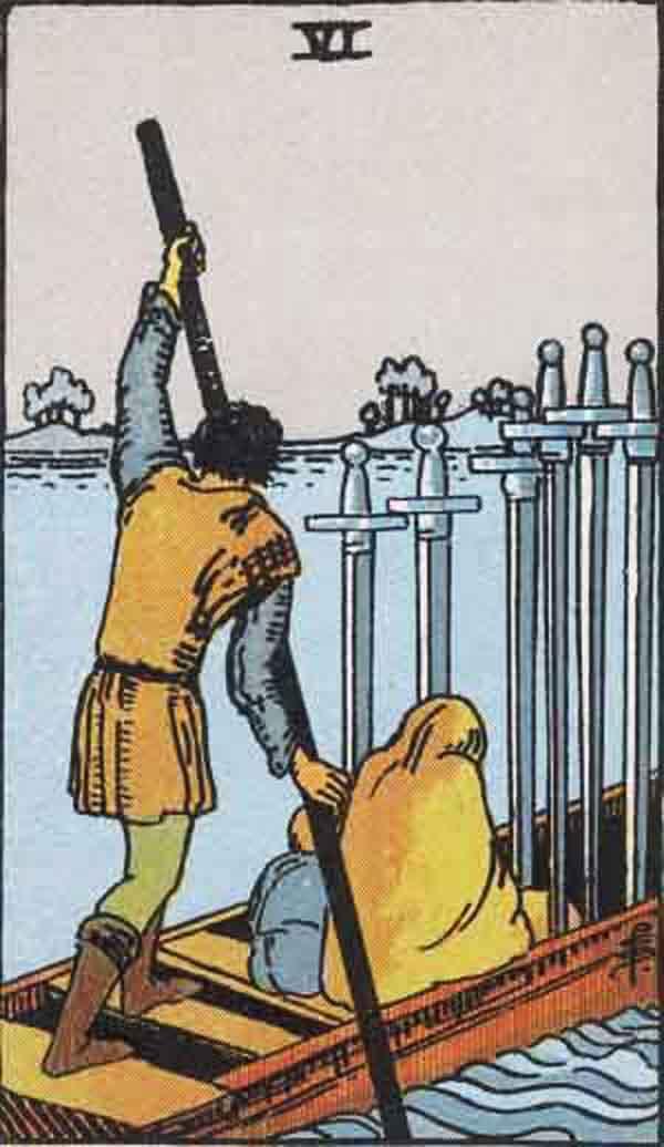 The Six of Swords tarot card