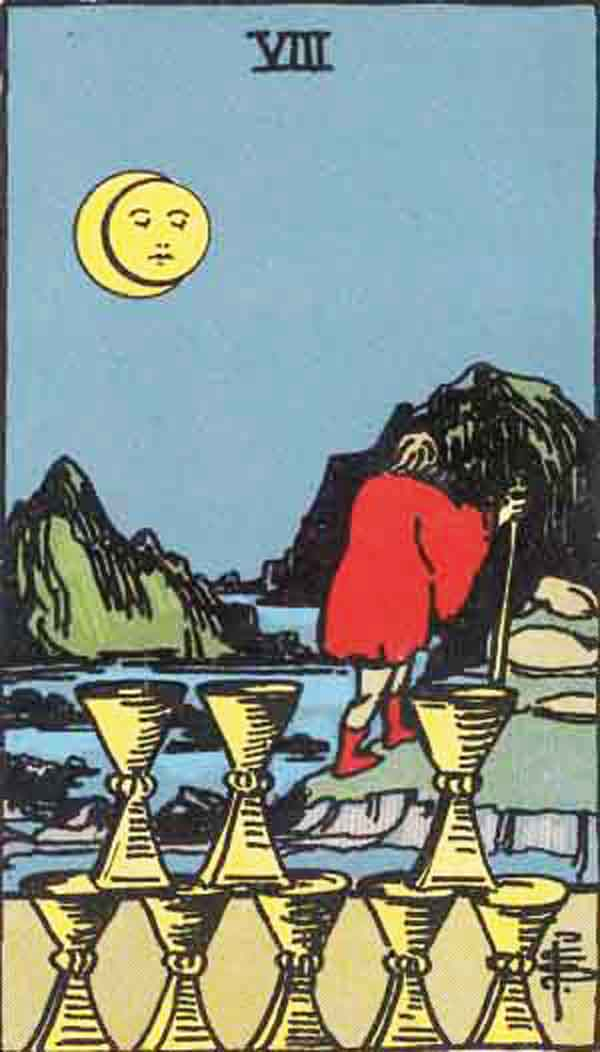 The Eight of Cups tarot card