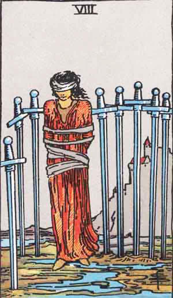 The Eight of Swords tarot card