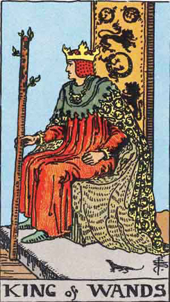 The King of Wands tarot card