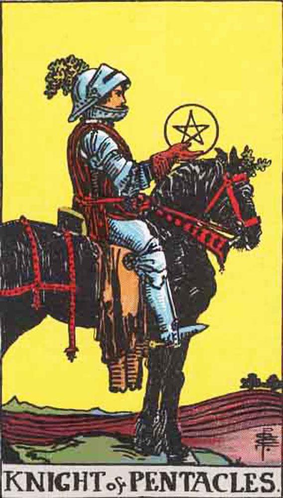 The Knight of Pentacles tarot card