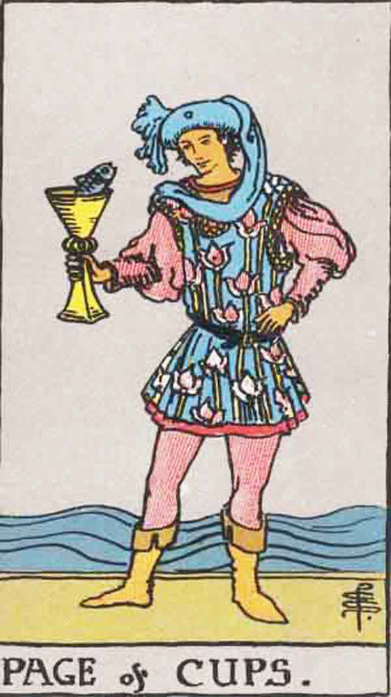 The Page of Cups tarot card