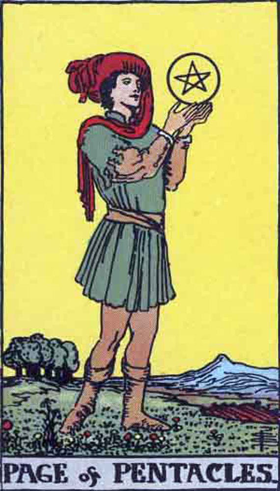 The Page of Pentacles tarot card