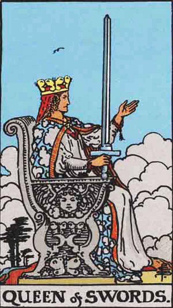 The Queen of Swords tarot card